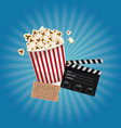 color background with glow with clapperboard and vector image vector image