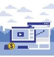 computer website financial report money business vector image