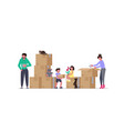 concept of family with kids moving vector image vector image