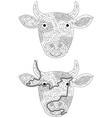 cow maze vector image vector image