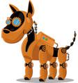 dog steampunk robot unusual animal pattern vector image vector image
