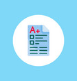 exam icon sign symbol vector image vector image