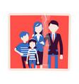 family reunion portrait vector image