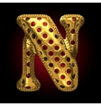 golden and red letter n vector image vector image