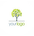 green tree nature logo vector image vector image
