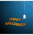 Halloween spider web with blue background vector image