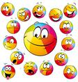 happy beach ball vector image vector image