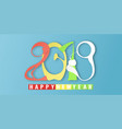 happy new year 2019 with on blue background with vector image