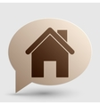 Home silhouette Brown gradient icon vector image vector image
