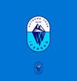 iceberg logo extreme tour emblem engraving style vector image vector image