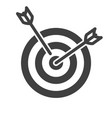 icon of a target with two arrows on a white vector image vector image