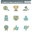 Icons line set premium quality of various business vector image