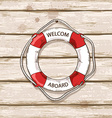 Lifebuoy on boards of ship deck background vector image vector image