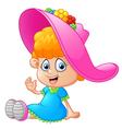 little girl cartoon vector image
