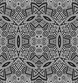 monochrome hand drawn seamless zentangle pattern vector image vector image