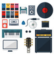 My Music Studio Instrument Flat Design vector image