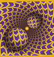 optical balls are moving in rotating hole