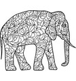 ornamental elephant vector image