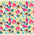 pattern with organic vegetables set salad vector image vector image