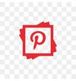 pinterest social media icon design template vector image vector image
