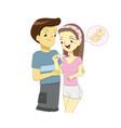 positive pregnancy test result vector image vector image
