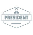 president logo simple gray style vector image vector image