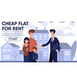 real estate agency landing page with best offers vector image vector image
