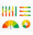 realistic detailed 3d level indicator set vector image
