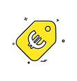 sale icon design vector image
