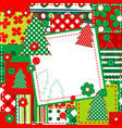 scrapbook background for christmas vector image vector image
