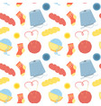 seamless pattern with yarn vector image
