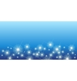 Shining stars on blue seamless horizontal pattern vector image vector image