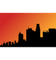 Silhouette of a tall buildings vector image vector image