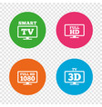 smart tv mode icon 3d television symbol vector image