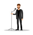 stand up show isolated color vector image