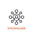 stockholder icon on white vector image vector image