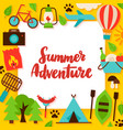 summer adventure paper concept vector image vector image