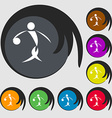 Summer sports basketball icon Symbols on eight vector image