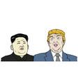 trump vs jong-un flat design vector image vector image