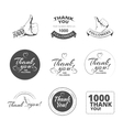 vintage Thank you badges vector image vector image