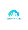 work cloud logo icon design vector image