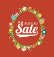 easter sale in egg frame and around with grass vector image