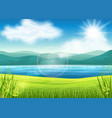beautiful summer view vector image