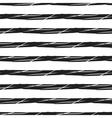 Grunge stripes seamless pattern black horizontal vector image
