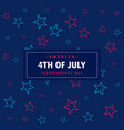 4th july background vector image vector image