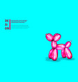 air balloon dog 3d realistic cute rubber toy vector image