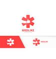 ambulance and like logo combination medic vector image