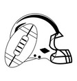 american football game black and white vector image vector image