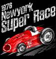 american race vintage classic retro man t vector image vector image