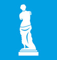 ancient statue icon white vector image vector image